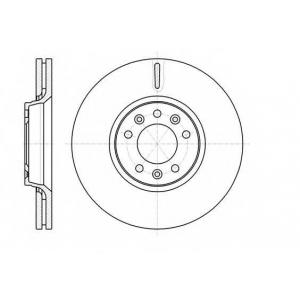 REMSA 61054.10 Диск тормозной CITROEN JUMPY,FIAT SCUDO,PEUGEOT EXPERT 1.6 2.0 07- передн. (пр-во REMSA)