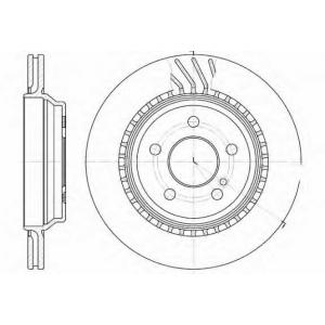 REMSA 61072.10 Диск тормозной MB S-class (W220) (10/98-09/05) задн. (пр-во REMSA)