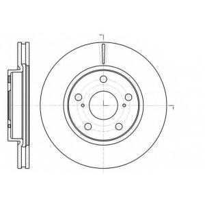 REMSA 61077.10 Диск тормозной TOYOTA RAV 4 III (XA3) 2.4 VVTI, 4WD 05- передн. (пр-во REMSA)
