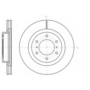 REMSA 61100.10 Диск тормозной MITSUBISHI PAJERO IV передн. (пр-во REMSA)
