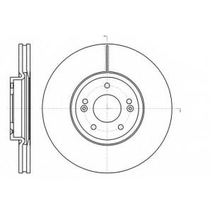 REMSA 61102.10 Диск тормозной HYUNDAI SANTA FE 06- передн. (пр-во REMSA)
