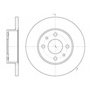 REMSA 6111.00 Тормозной диск Фиат Премио