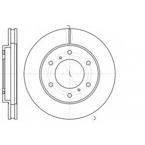 REMSA 61118.10 Диск тормозной MITSUBISHI L200 передн., вент. (пр-во REMSA)