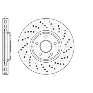 REMSA 61123.10 Диск тормозной MB E-CLASS (W211) 05- передн. (пр-во REMSA)