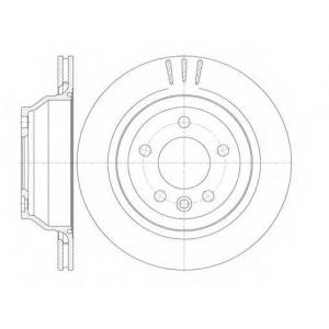 REMSA 61160.10 Диск тормозной VW T5, TOUAREG задн. (пр-во REMSA)