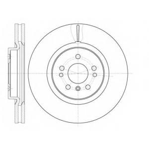 REMSA 61165.10 Диск тормозной MB GL-Class (X164) (09/06-) передн. (пр-во REMSA)