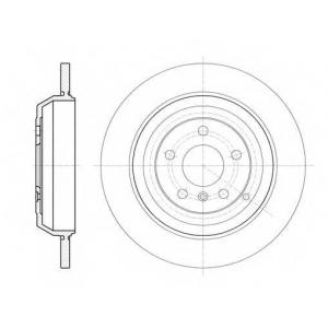 REMSA 61166.00 Диск тормозной MB GL-Class (X164) (09/06-) задн. (пр-во REMSA)