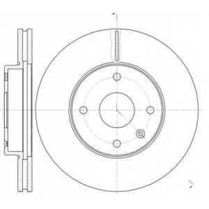 REMSA 61181.10 Диск тормозной CHEVROLET EVANDA 2.0I 16V 02.08- передн. (пр-во REMSA)