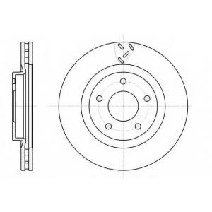 REMSA 61200.10 Диск тормозной DODGE CALIBER 1.8 2.0 06- передн. (пр-во REMSA)