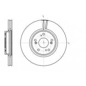 REMSA 61218.10 Диск тормозной HONDA ACCORD, CR-V передн., вент. (пр-во REMSA)