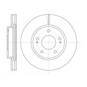 REMSA 61229.10 Диск тормозной MITSUBISHI LANCER 2.0 03-, SPACE WAGON 98- передн. (пр-во REMSA)