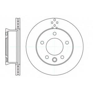 REMSA 61275.10 Диск тормозной MB SPRINTER 3T 4T 00-06 передн. (пр-во REMSA)