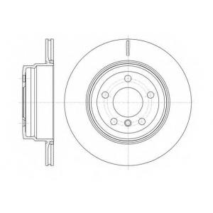 REMSA 61287.10 Диск тормозной BMW X5, X6 задн., вент. (пр-во REMSA)