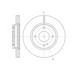 REMSA 61299.10 Диск тормозной FORD FIESTA VI 1.25-1.6 08- передн. (пр-во REMSA)