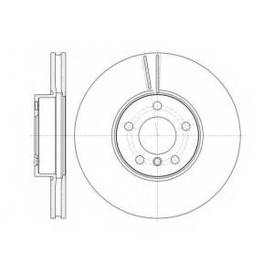 REMSA 61307.10 Диск тормозной BMW X5(E70) 02/07- передн. (пр-во REMSA)