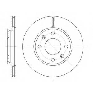 REMSA 6131.10 Диск тормозной CITROEN XSARA 97-00 ,PEUGEOT 306 94-02. 206 03- передн. (пр-во REMSA)