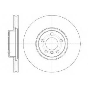 REMSA 61335.10 Диск тормозной BMW X5, X6 передн., вент. (пр-во REMSA)