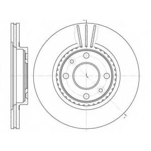 REMSA 6144.10 Диск тормозной RENAULT KANGOO, MEGANE передн., вент. (пр-во REMSA)
