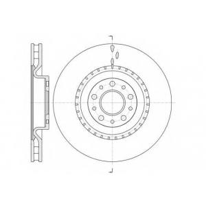REMSA 61458.10 Диск тормозной OPEL COMBO III; FIAT DOBLO III 2010- передн. (пр-во REMSA)