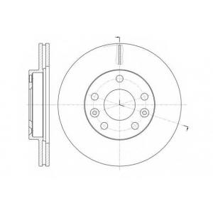 REMSA 61478.10 Диск тормозной RENAULT DUSTER 1.6 16V 2.0 2012-  передн. (пр-во REMSA)