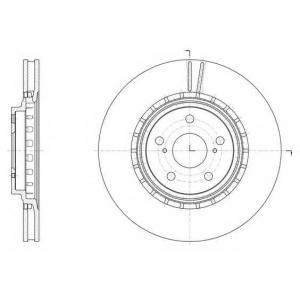 REMSA 61540.10 Диск тормозной TOYOTA RAV4 IV 2.0 2.2 2012-,LEXUS RX350 RX450 2008- передн. (пр-во REMSA)
