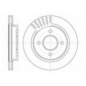 REMSA 6160.10 Диск тормозной FORD MONDEO, задн., вент. (пр-во REMSA)