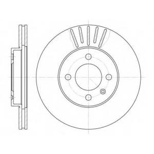 REMSA 6175.10 Диск тормозной SEAT IBIZA IV, VW CADDY передн., вент. (пр-во REMSA)