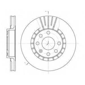 REMSA 6178.10 Диск тормозной DAEWOO LANOS R14 передн., вент. (пр-во REMSA)