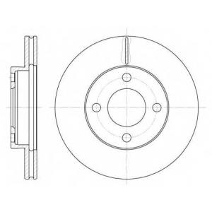 REMSA 6185.10 Диск тормозной AUDI 100 (43, C2) (08/76-07/82) (пр-во REMSA)