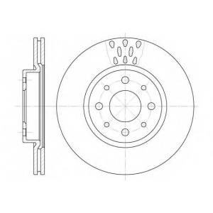 REMSA 6189.10 Диск тормозной ALFA ROMEO, FIAT, LANCIA, передн., вент. (пр-во REMSA)
