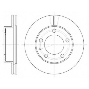 REMSA 6203.10 Диск тормозной MAZDA 626 передн., вент. (пр-во REMSA)