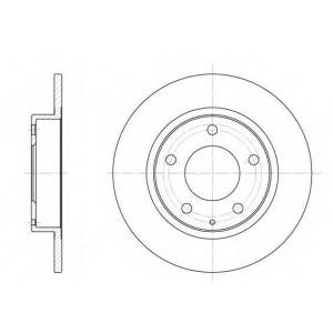 Тормозной диск 620600 remsa - MAZDA MX-6 (GE) купе 2.0
