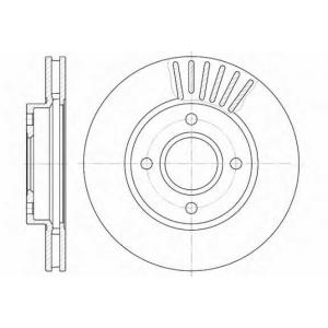 REMSA 6211.10 Диск тормозной FORD MONDEO, SCORPIO передн., вент. (пр-во REMSA)