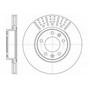 REMSA 6265.10 Диск тормозной CITROEN, PEUGEOT передн., вент. (пр-во REMSA)