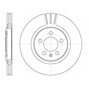 REMSA 6293.10 Диск тормозной SEAT, VW, передн., вент. (пр-во REMSA)