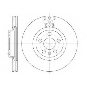 REMSA 6305.11 Диск тормозной CITROEN EVASION 06/94-07/02 JUMPY 06/94- передн. (пр-во REMSA)