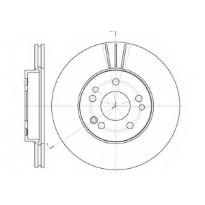 REMSA 6314.10 Диск тормозной MB 190 (W201), E-CLASS (W124) передн., вент. (пр-во REMSA)