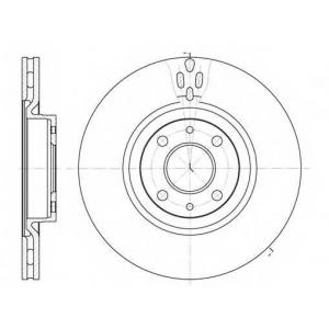 REMSA 6316.11 Диск тормозной ALFA ROMEO 155 передн., вент. (пр-во REMSA)