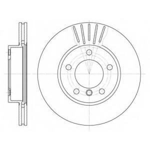 REMSA 6324.10 Диск тормозной BMW передн., вент. (пр-во REMSA)