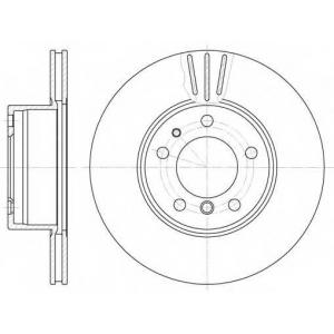 REMSA 6348.10 Диск тормозной BMW 5 (E28), 5 (E34), 7 (E32) передн., вент. (пр-во REMSA)