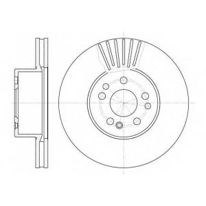 REMSA 6353.10 Диск тормозной MB S-CLASS передн., вент. (пр-во REMSA)