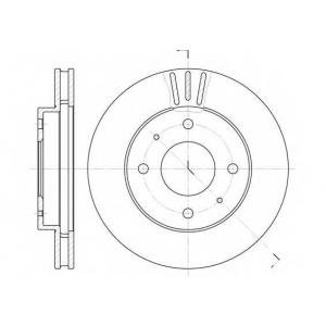 REMSA 6394.11 Диск тормозной KIA SPORTAGE передн., вент. (пр-во REMSA)