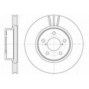 REMSA 6397.10 Диск тормозной SUBARU, передн., вент. (пр-во REMSA)