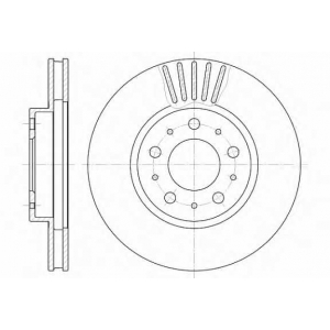 REMSA 6410.10 Диск тормозной VOLVO, передн., вент. (пр-во REMSA)