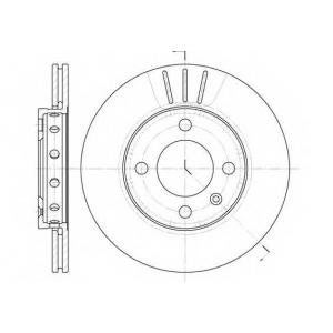 REMSA 6426.10 Диск тормозной SEAT, VW, передн., вент. (пр-во REMSA)