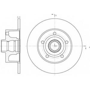 REMSA 6431.00 Диск тормозной AUDI A4 задн. (пр-во REMSA)