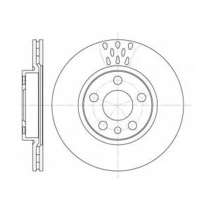 REMSA 6442.11 Диск тормозной CITROEN, FIAT, PEUGEOT, передн., вент. (пр-во REMSA)
