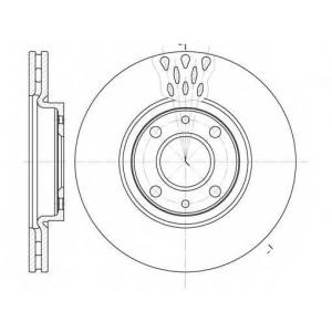 REMSA 6443.10 Диск тормозной FIAT LINEA, PUNTO передн., вент. (пр-во REMSA)