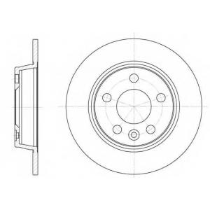 REMSA 6453.00 Диск тормозной FORD, SEAT, VW, задн. (пр-во REMSA)