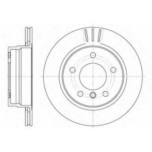 REMSA 6458.10 Диск тормозной BMW 3 задн., вент. (пр-во REMSA)